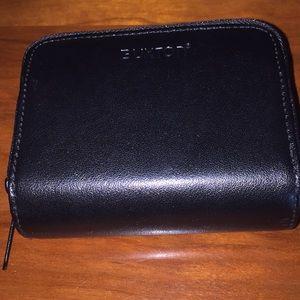 Black Genuine Leather Wallet Billfold Card Slots